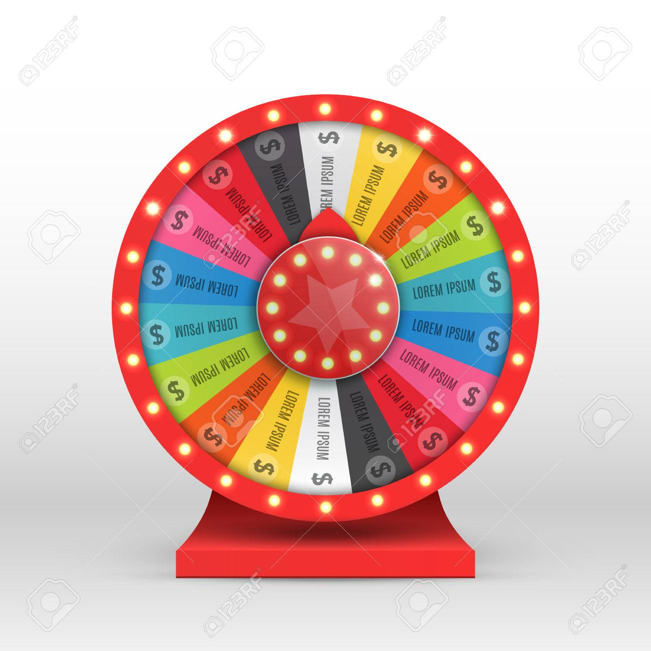 Colorful wheel of luck or fortune infographic. Vector illustration - 69007335