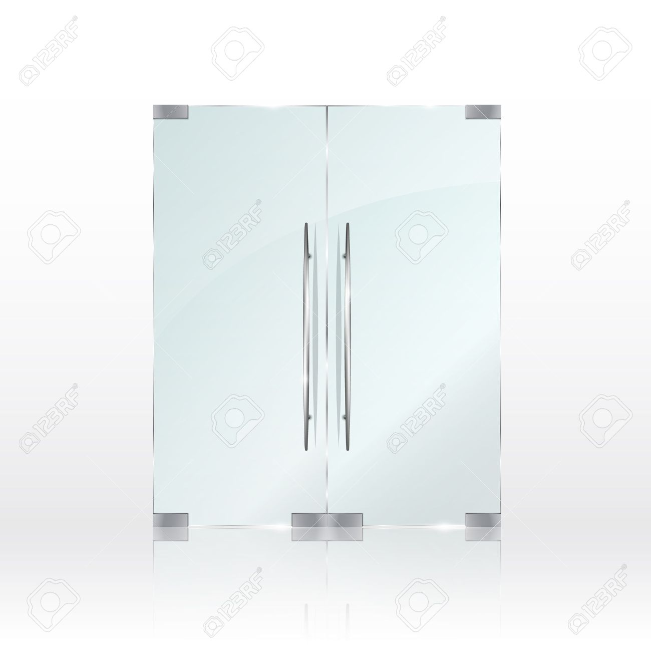 Glass doors isolated on transparent background. Vector illustration - 69032593