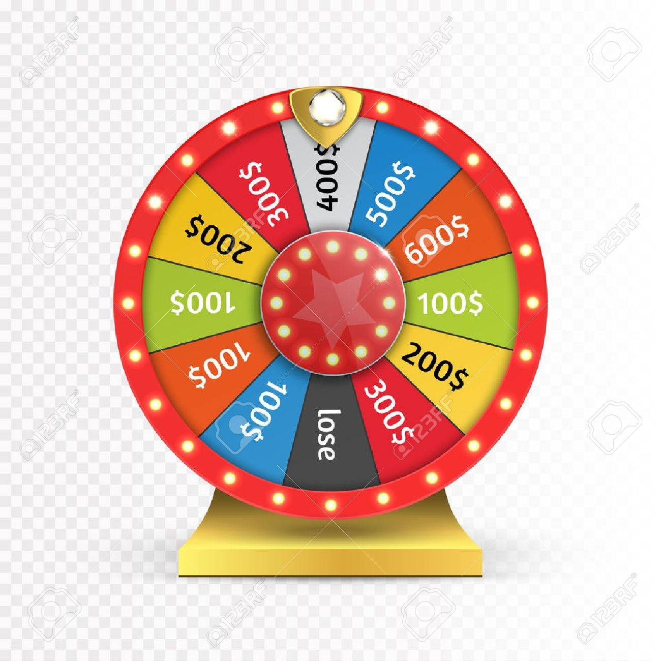 Colorful wheel of luck or fortune infographic. Vector - 70776305