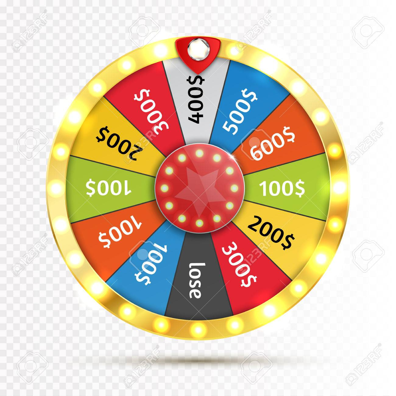 Colorful wheel of luck or fortune infographic. Vector - 70776997