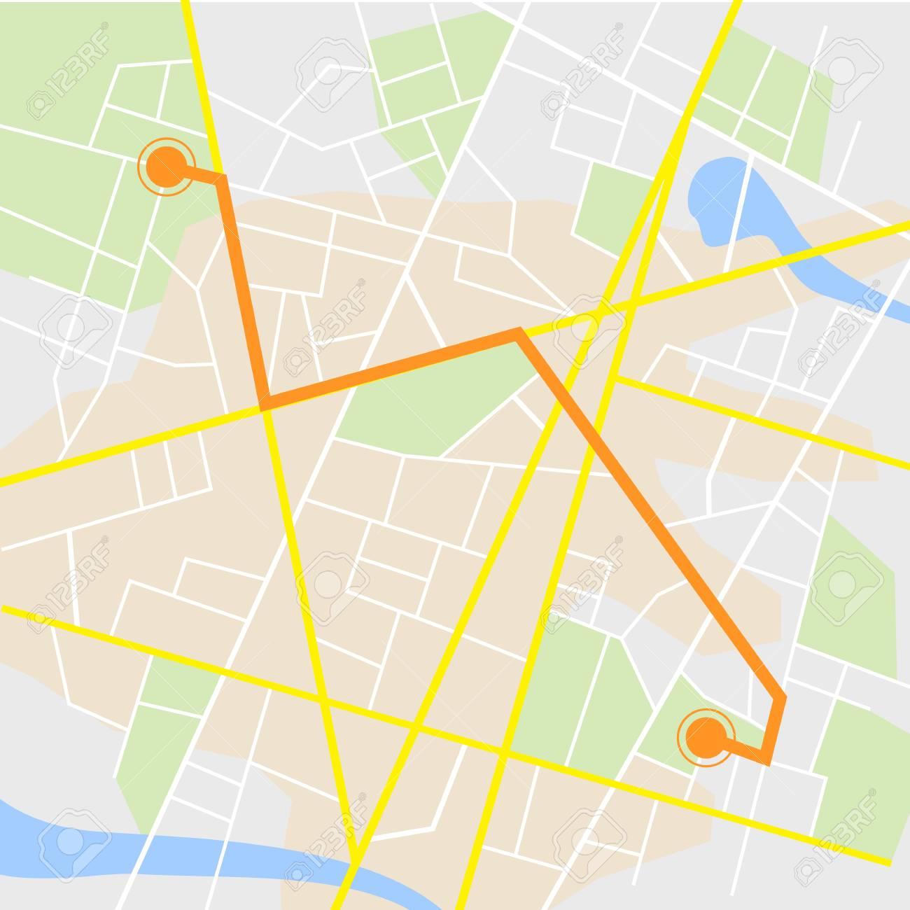 Gps Road Map Gps Navigation Background. Road Map, Vector Illustration Royalty  Gps Road Map
