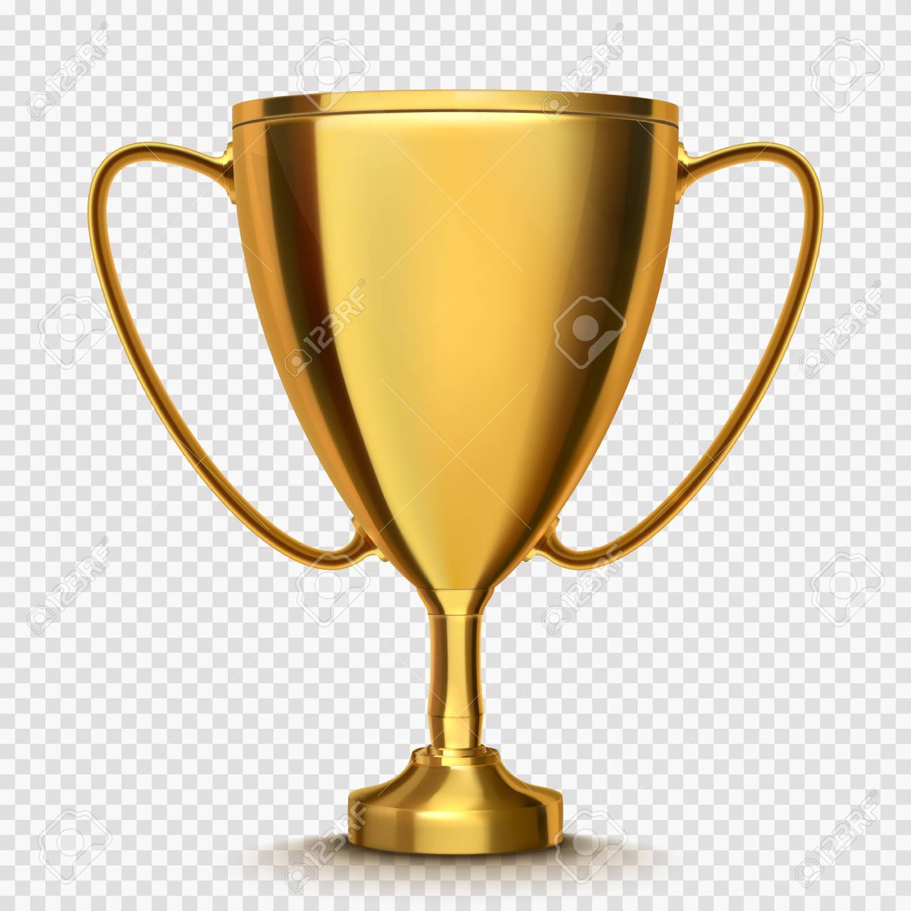 Winner Cup Isolated Golden Trophy On Transparent Background