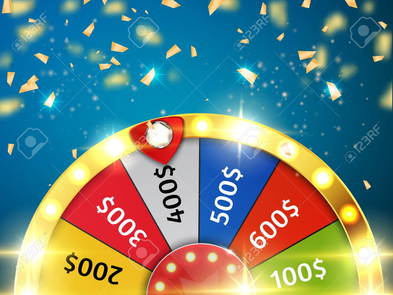 Colorful wheel of luck or fortune infographic. Vector - 88362467