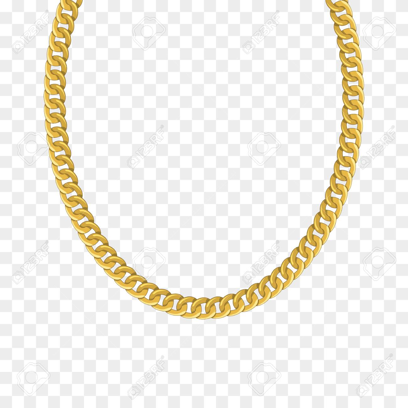 Gold Chain Isolated Vector Illustration Of Necklace Royalty Free Cliparts Vectors And Stock Illustration Image 125096277