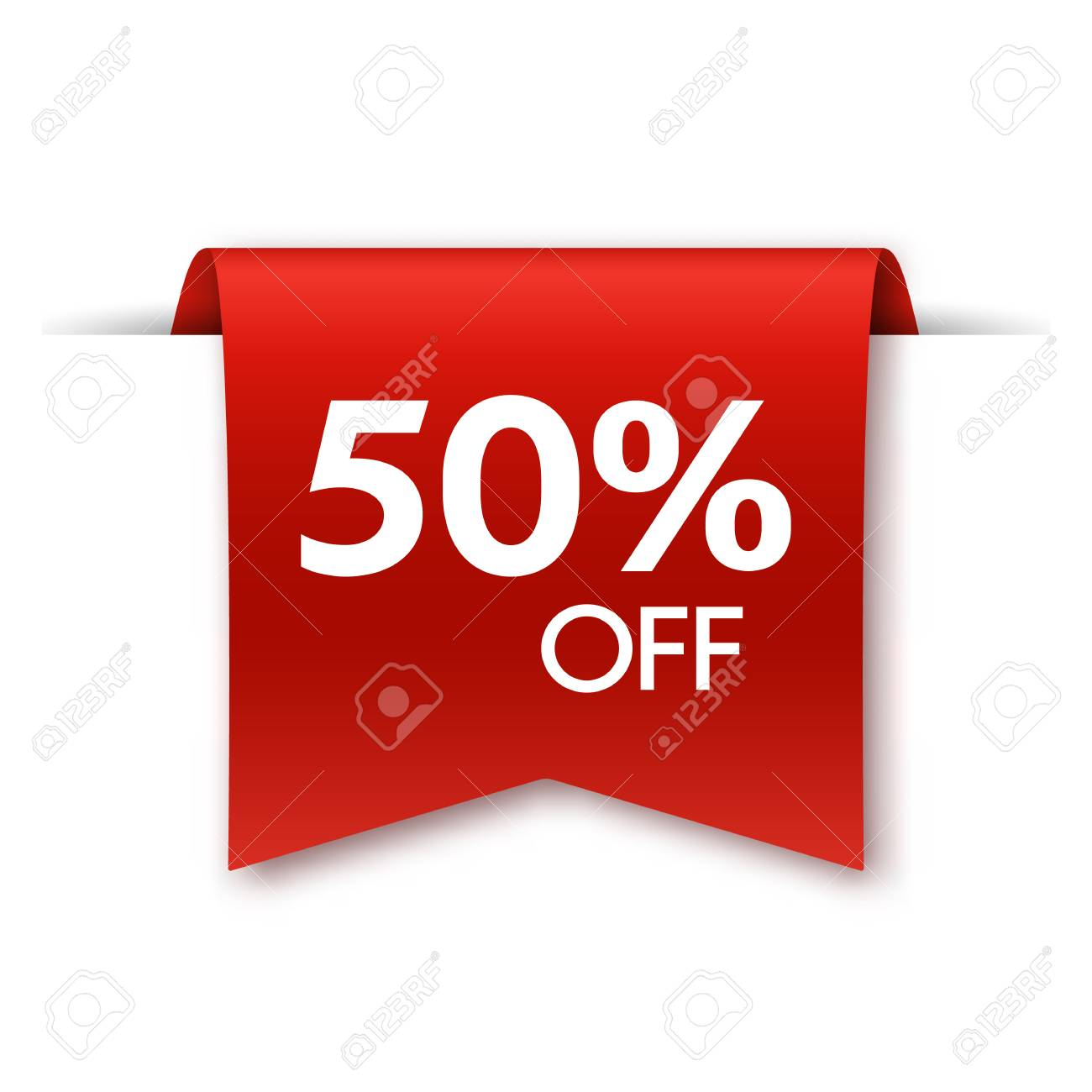Offer tag isolated on white. Discount label. Vector illustration - 125096282