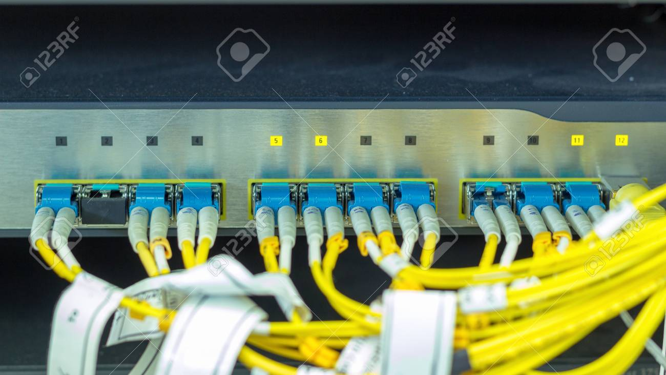 Equipment for fiber optic Internet connection