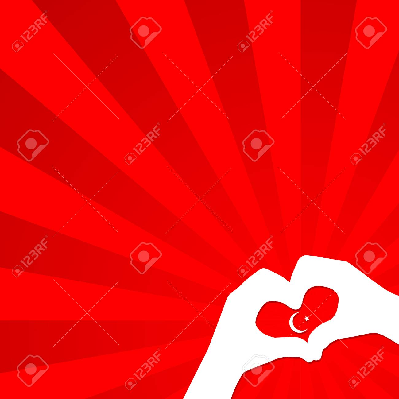 Children S Hands With A Moon And A Star On The Red Background Royalty Free Cliparts Vectors And Stock Illustration Image 98954732