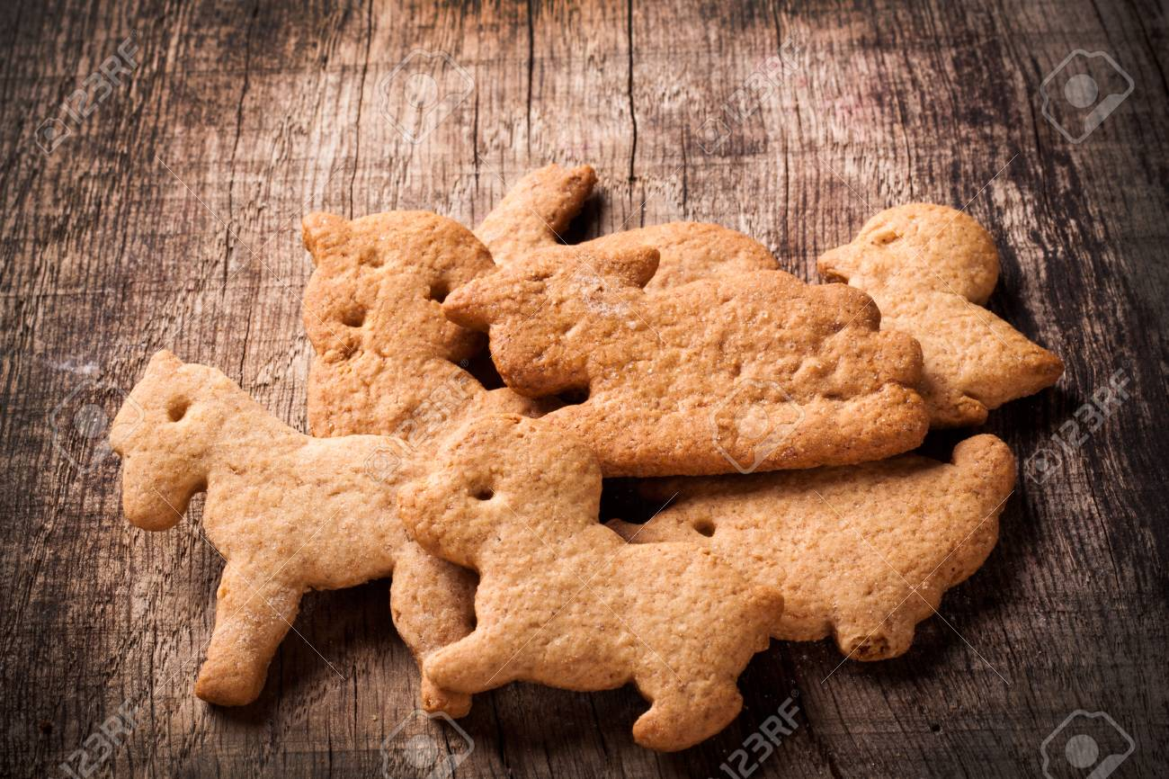 gingerbread on wooden table Stock Photo - 20574137