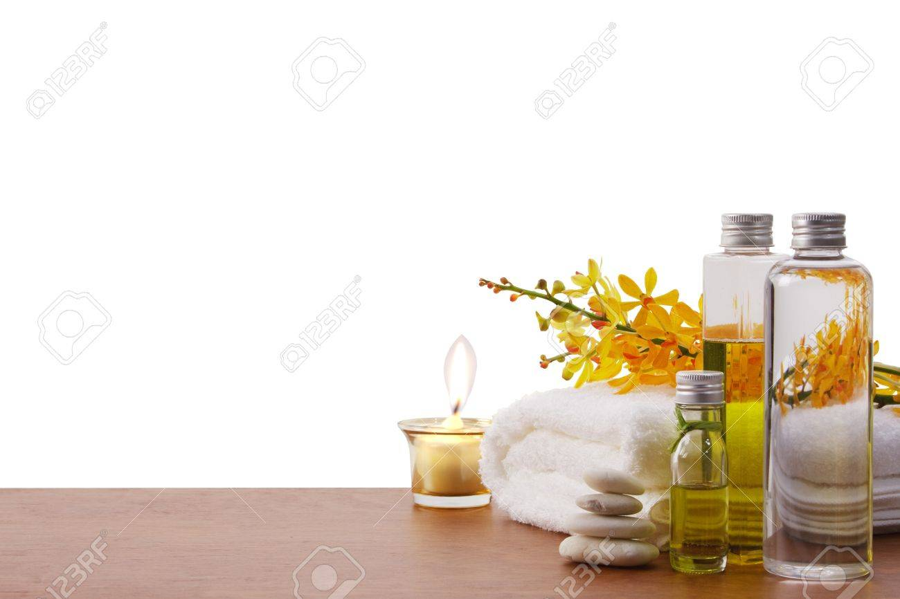 health spa setting with copy space Standard-Bild - 13835509
