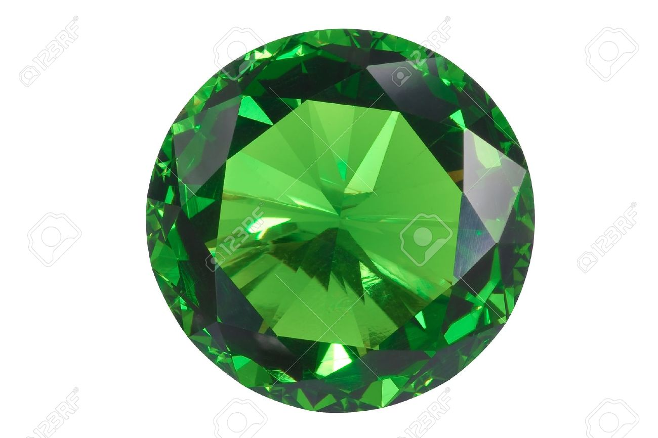 Frontansicht emerald isoliert auf weiß Standard-Bild - 15479022