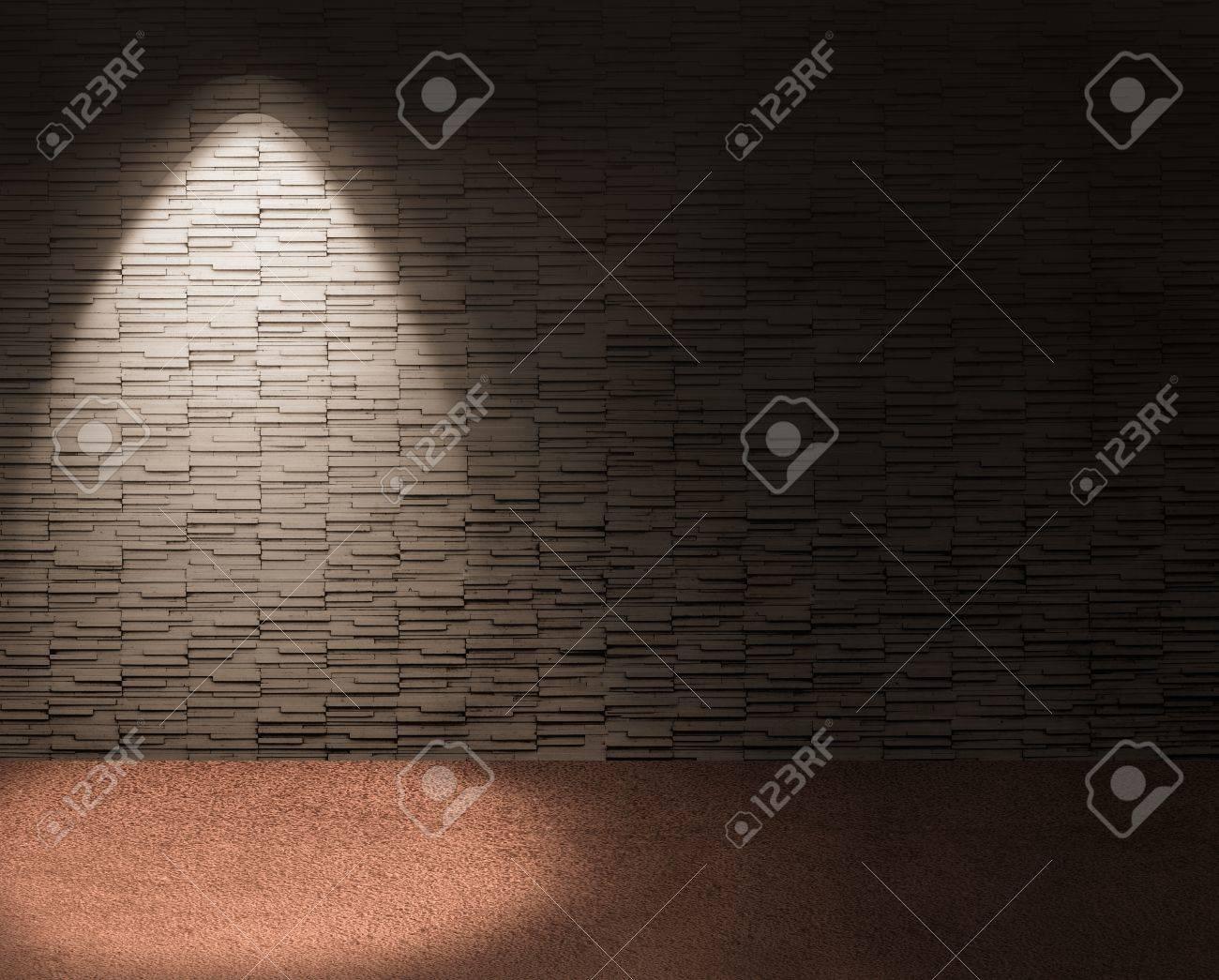 chic interior with spotlight on left background. Standard-Bild - 18399409