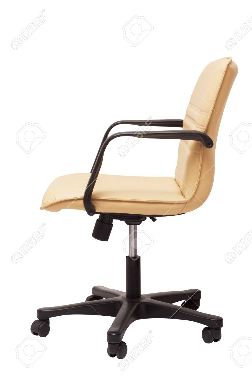 Cream Leather Office Chair On White Stock Photo Picture And Royalty Free Image Image 20943073