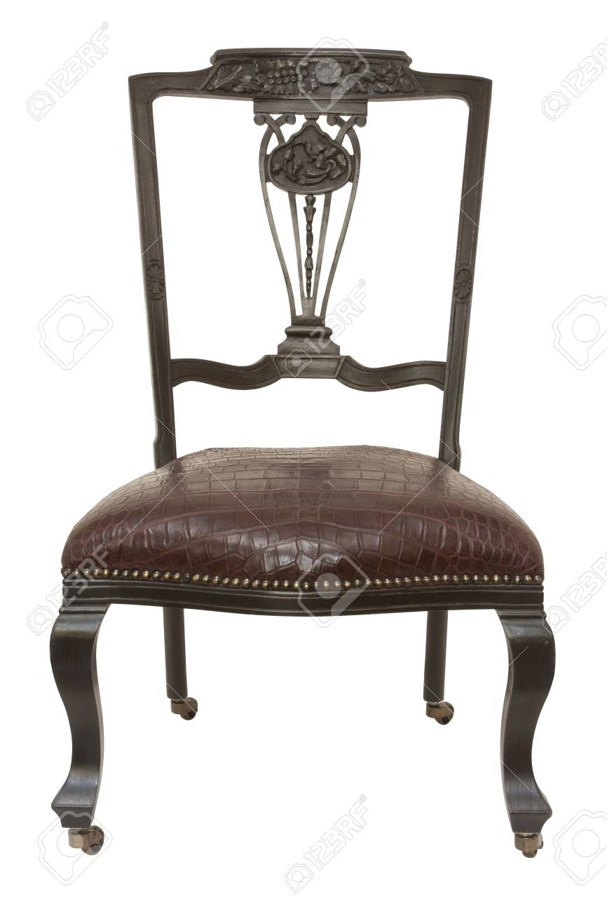 Attirant Stock Photo   Vintage Short Legs Chair Isolated On White