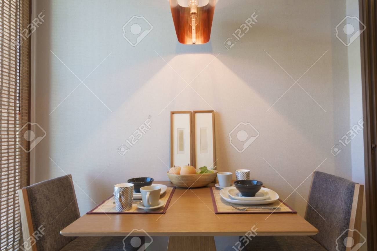 Japanese Style Table Setting Japanese Style Dining Table Setting For Couple Stock Photo