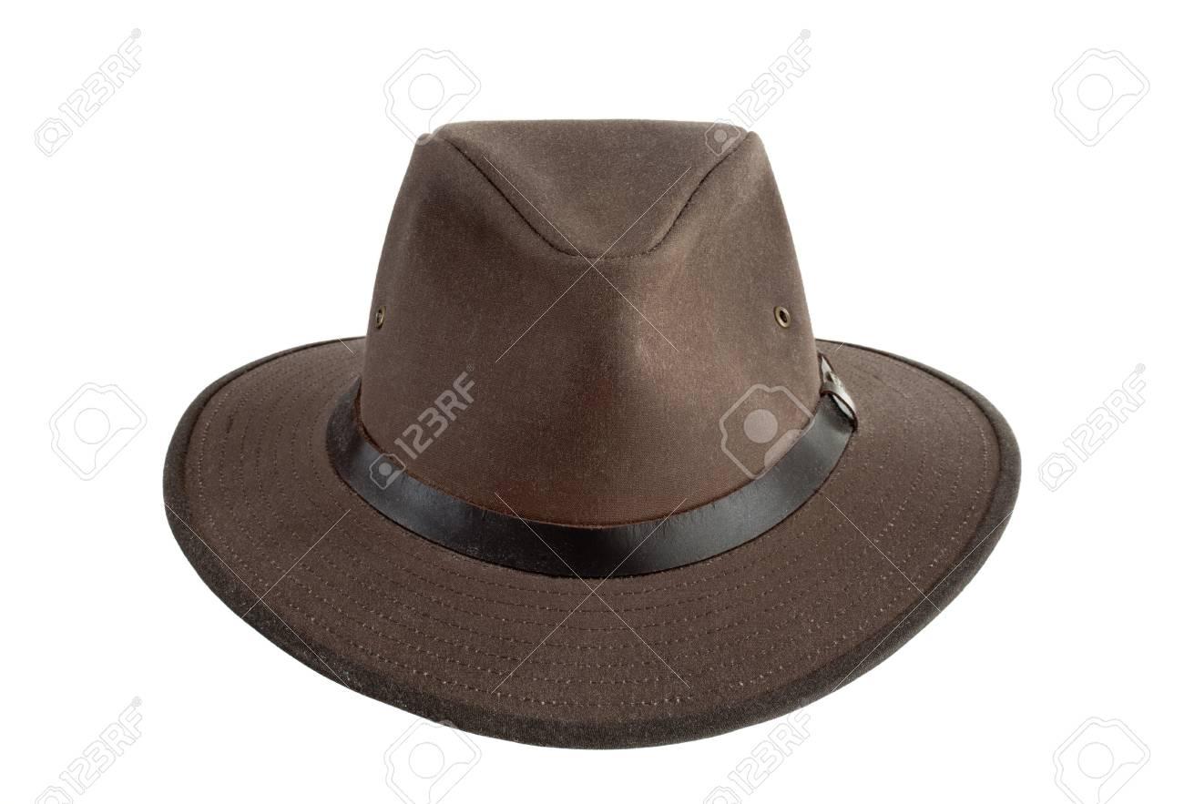 Australian Hat Designer | Brown Australian Style Designer Hat On White Stock Photo Picture