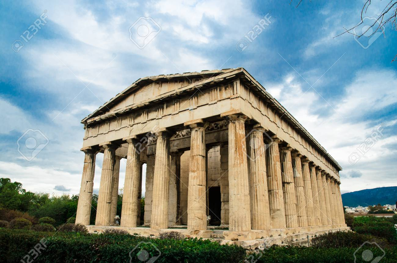 Stock Photo The Temple Of Hephaestus In Agora Athens Greece