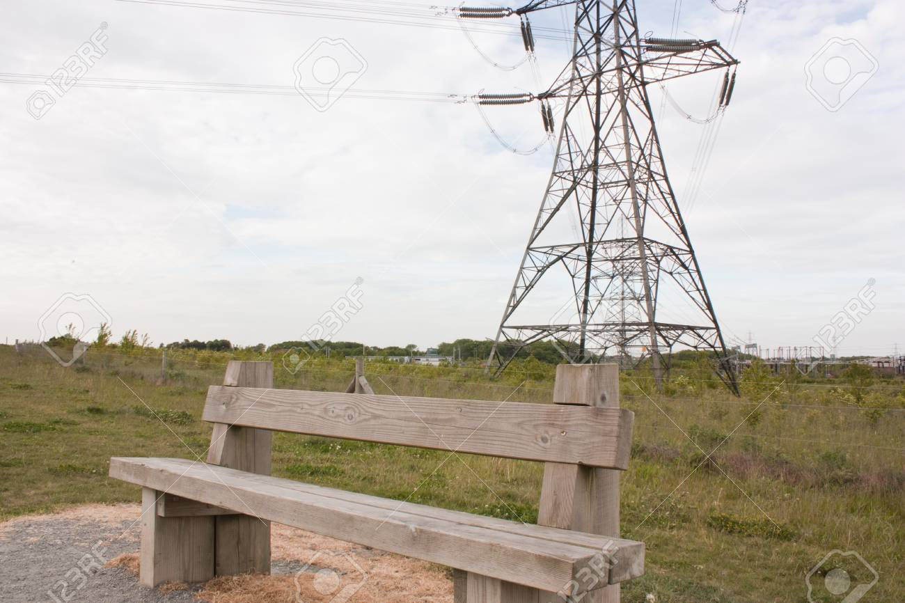 Stupendous An Image Of An Electrical Pylon With A Park Bench In The Foreground Pdpeps Interior Chair Design Pdpepsorg