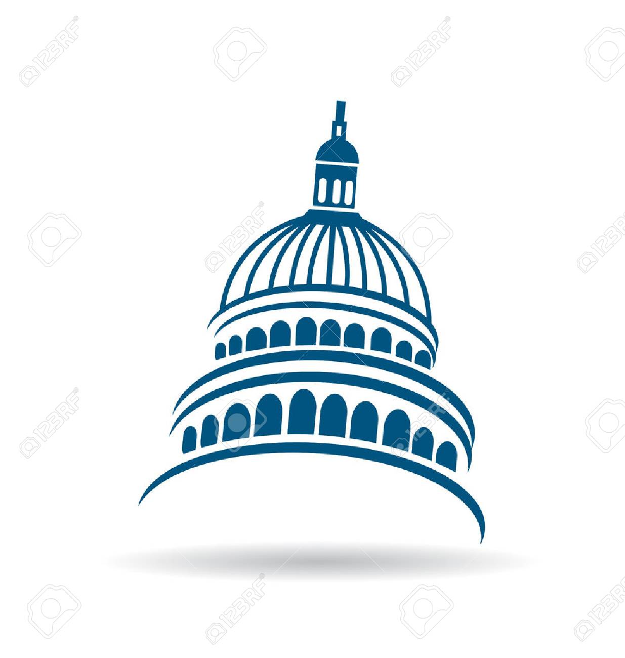 usa capitol building icon royalty free cliparts vectors and stock rh 123rf com capitol records building vector capitol building vector graphic