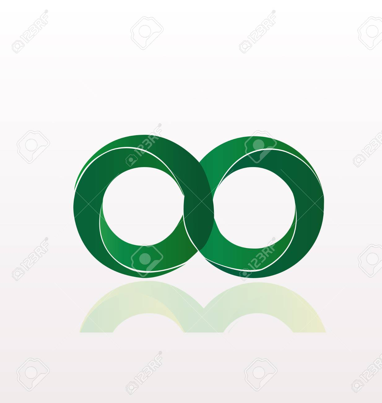 Infinity Symbol Icon Illustration On White Background Royalty Free