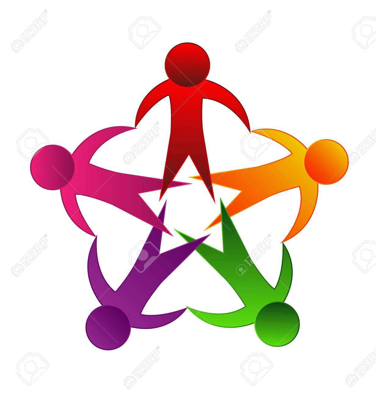 Logo Teamwork Unity Holding Hands Educational Concept Icon Vector Royalty Free Cliparts Vectors And Stock Illustration Image 102081325