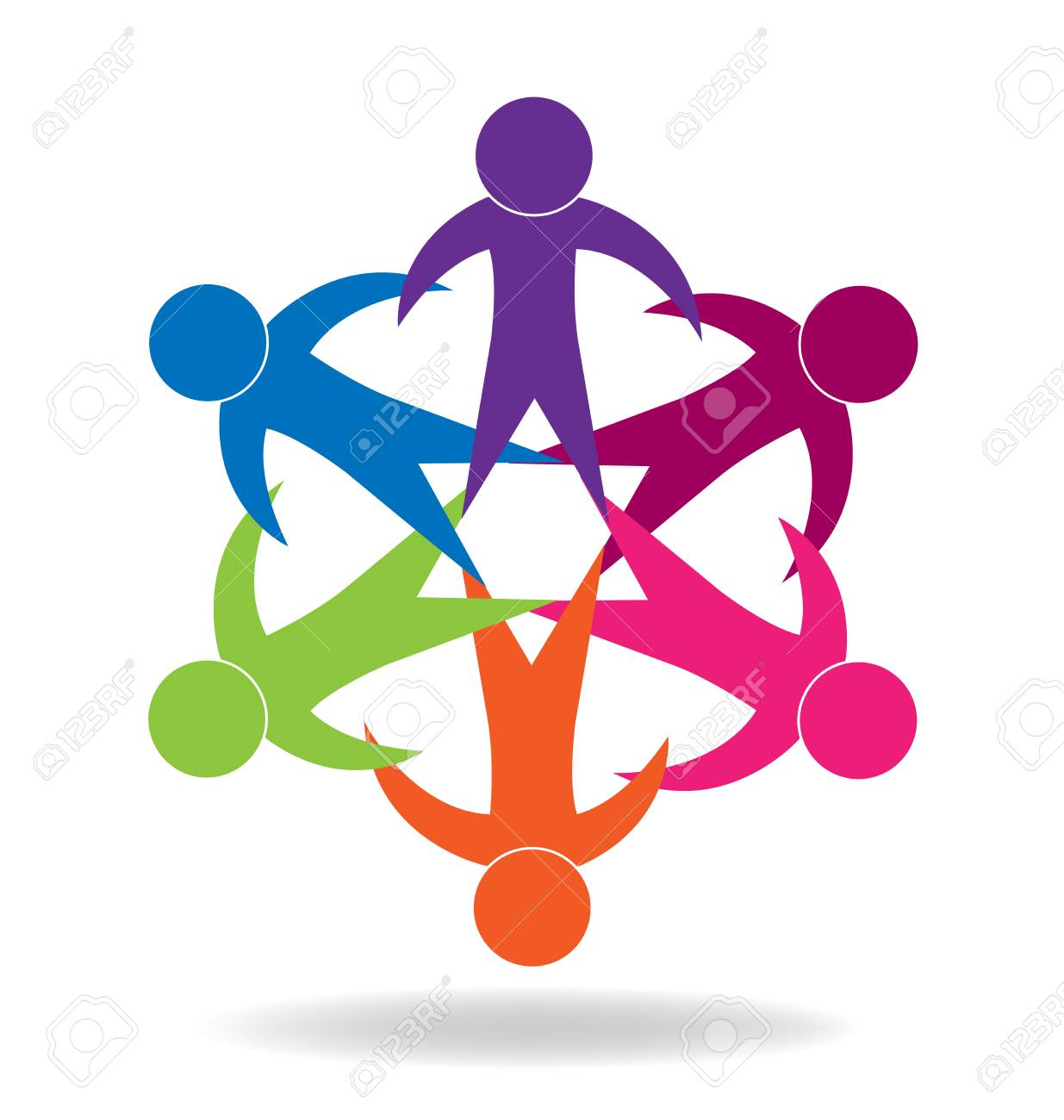 Logo Teamwork Unity Holding Hands Educational Concept Icon Vector Royalty Free Cliparts Vectors And Stock Illustration Image 102081358