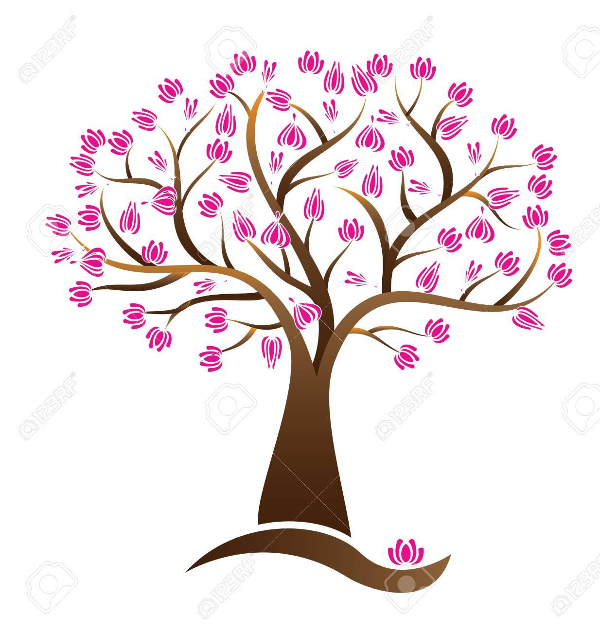 Cherry lotus blossom tree vector logo image royalty free cliparts cherry lotus blossom tree vector logo image stock vector 97786978 izmirmasajfo