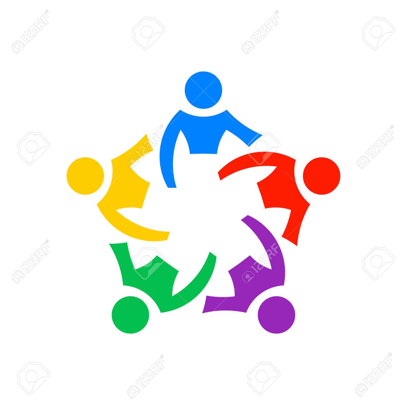 Teamwork people community, vector graphic - 157843927