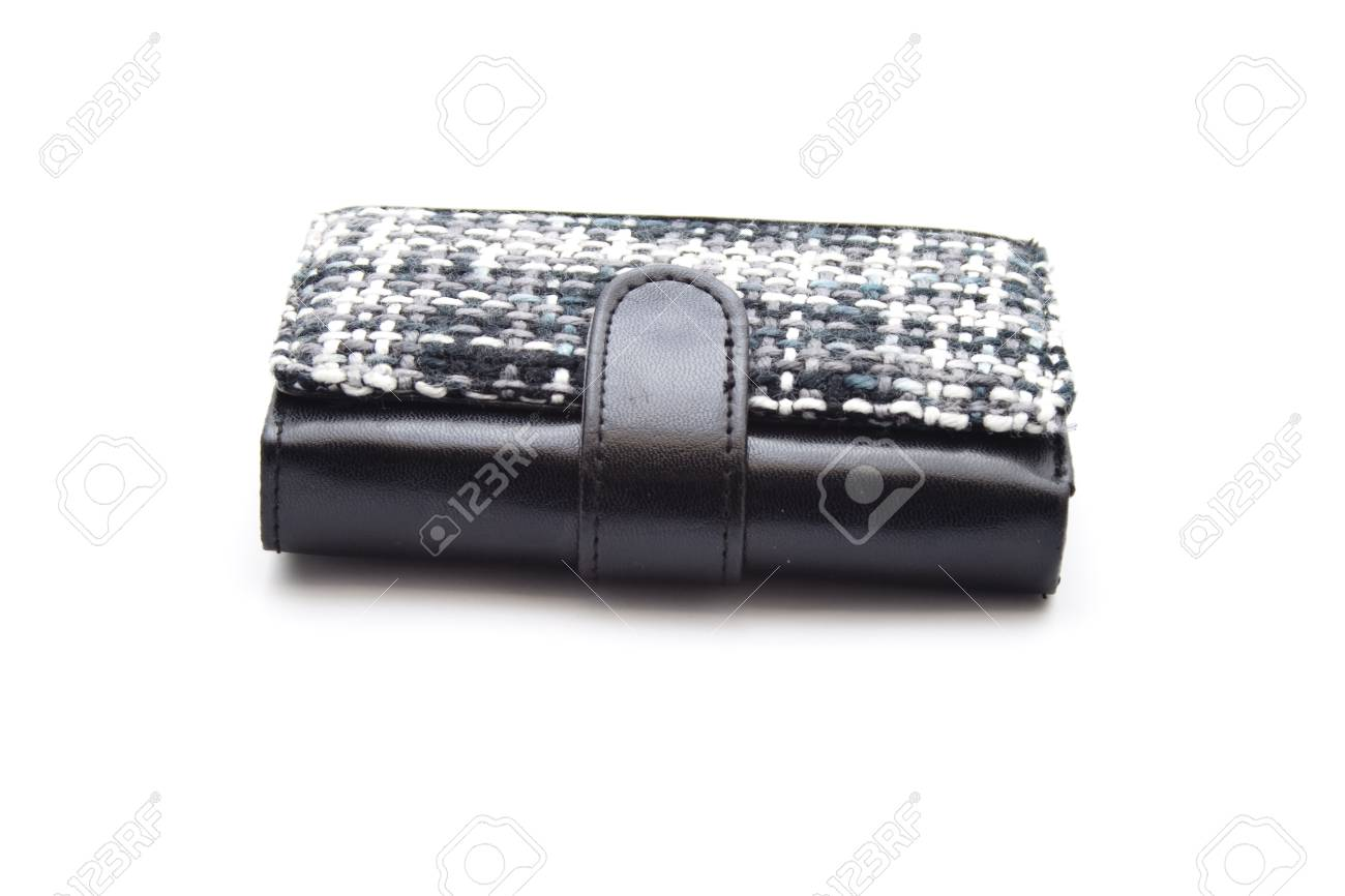 Black Money Purse with Money Stock Photo - 21292625