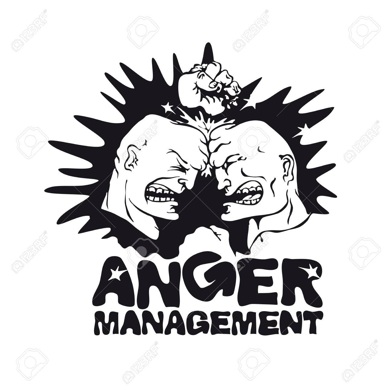 T shirt design application free - Vector Picture Of Two Angry Men For Application To The T Shirt Print Template