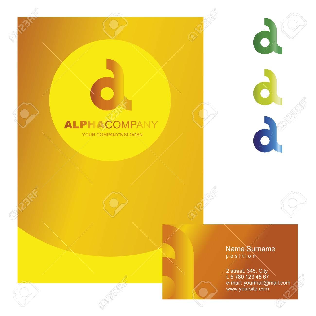 Una Carta - Vector De Diseño De Logotipo Ilustración Del Concepto ...