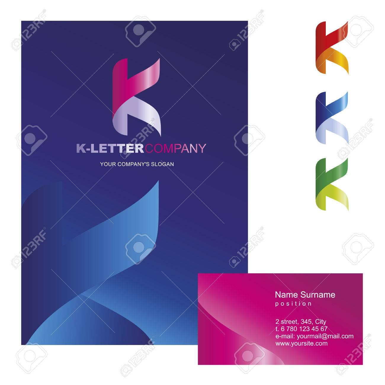 K Carta - Vector De Diseño De Logotipo Ilustración Del Concepto ...
