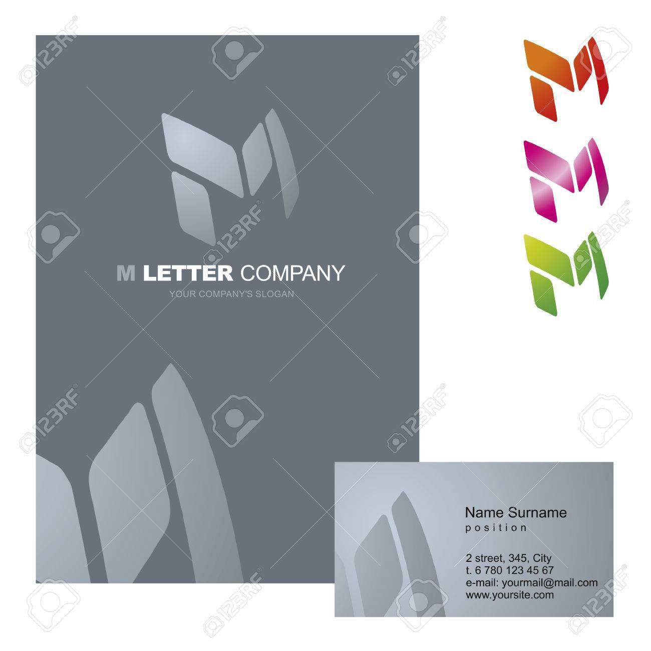 Letra M - Vector De Diseño De Logotipo Ilustración Del Concepto ...