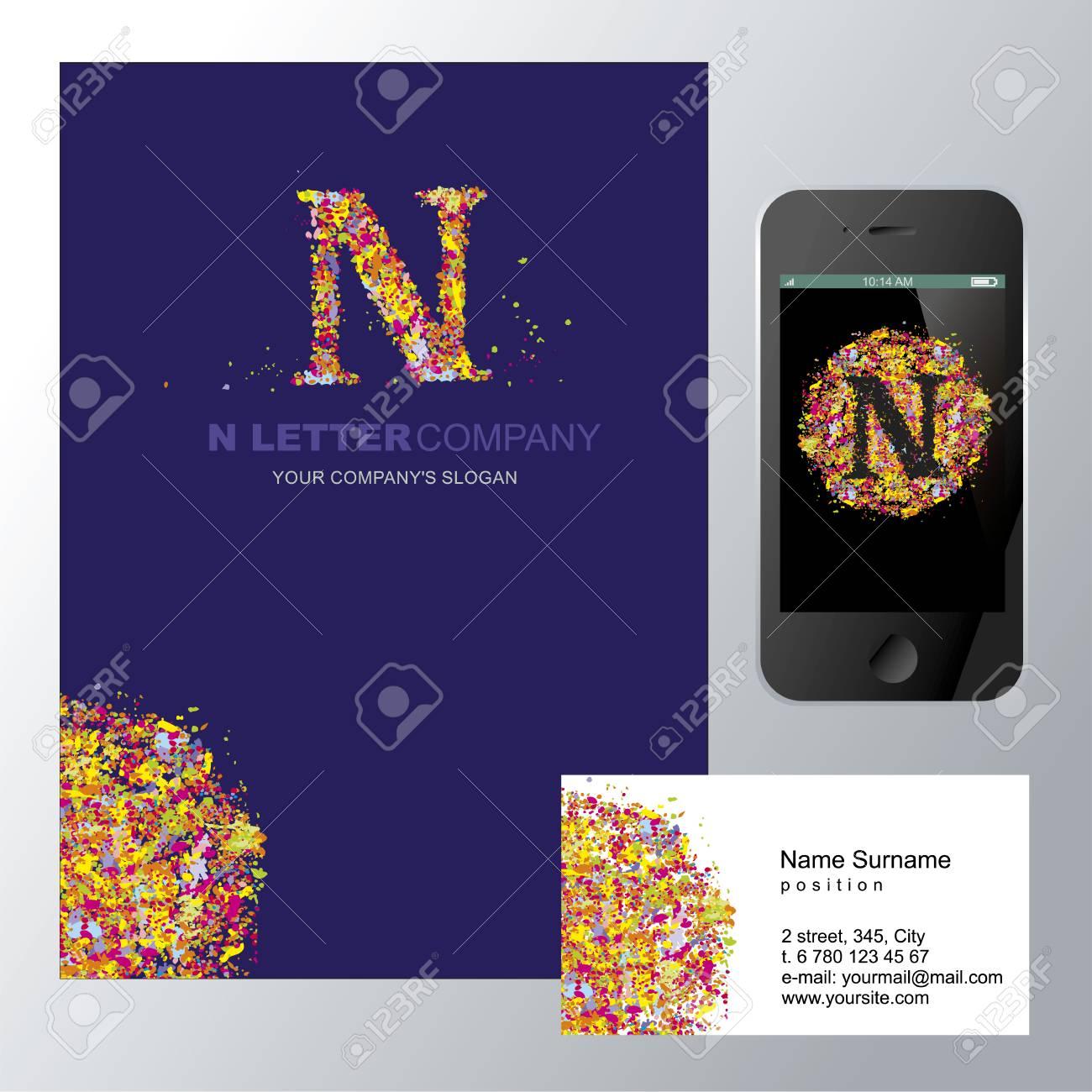 N Carta - Logotipo De Diseño De Concepto Ilustración. Resumen ...