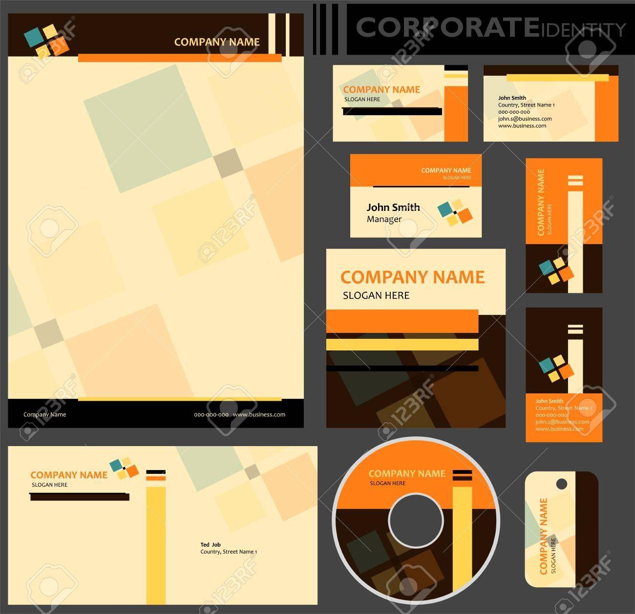 Corporate Identity Template Editable Set Design Including Business ...