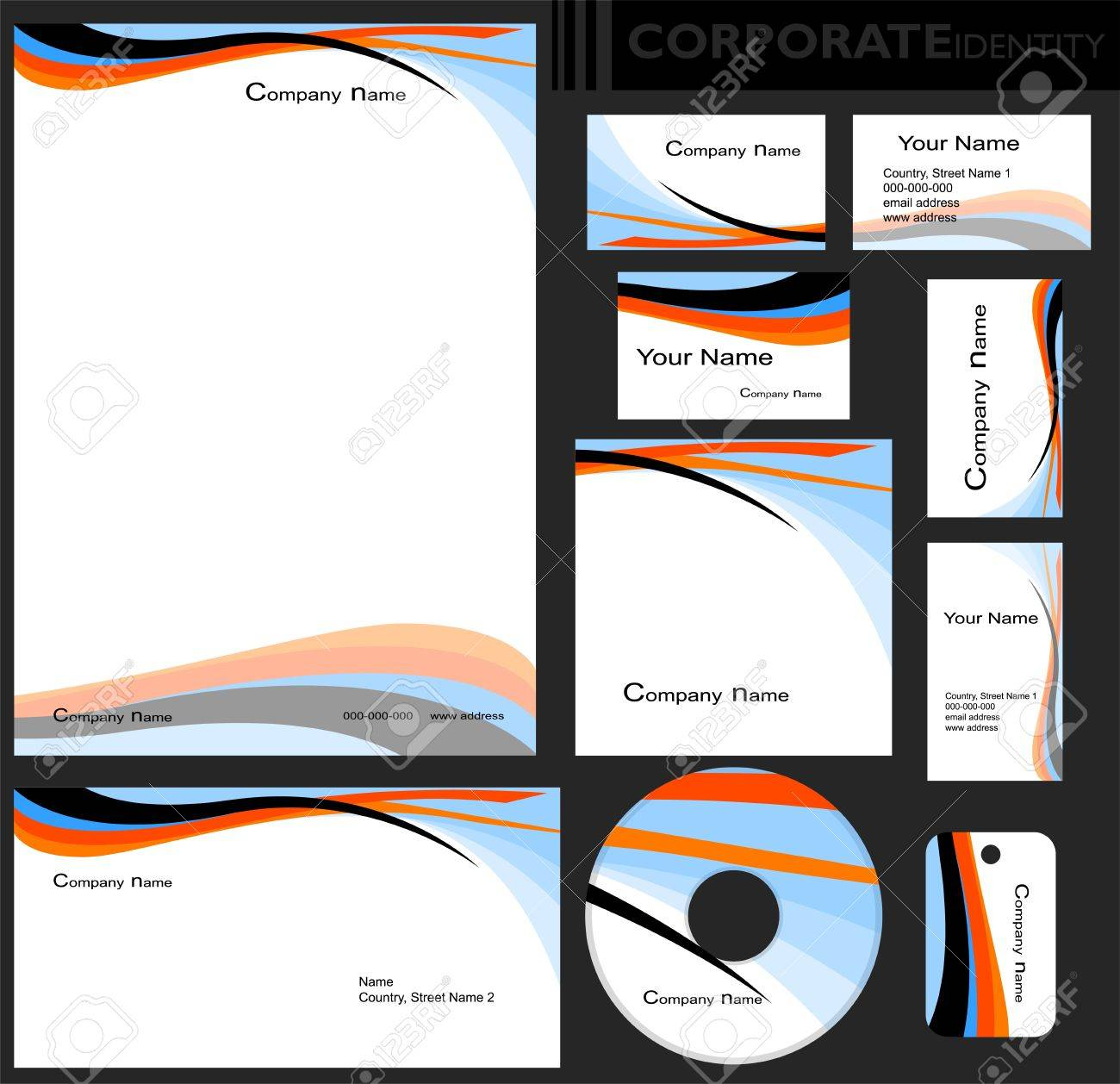 Corporate identity template editable set design including business corporate identity template editable set design including business paper cards id cd cheaphphosting Choice Image