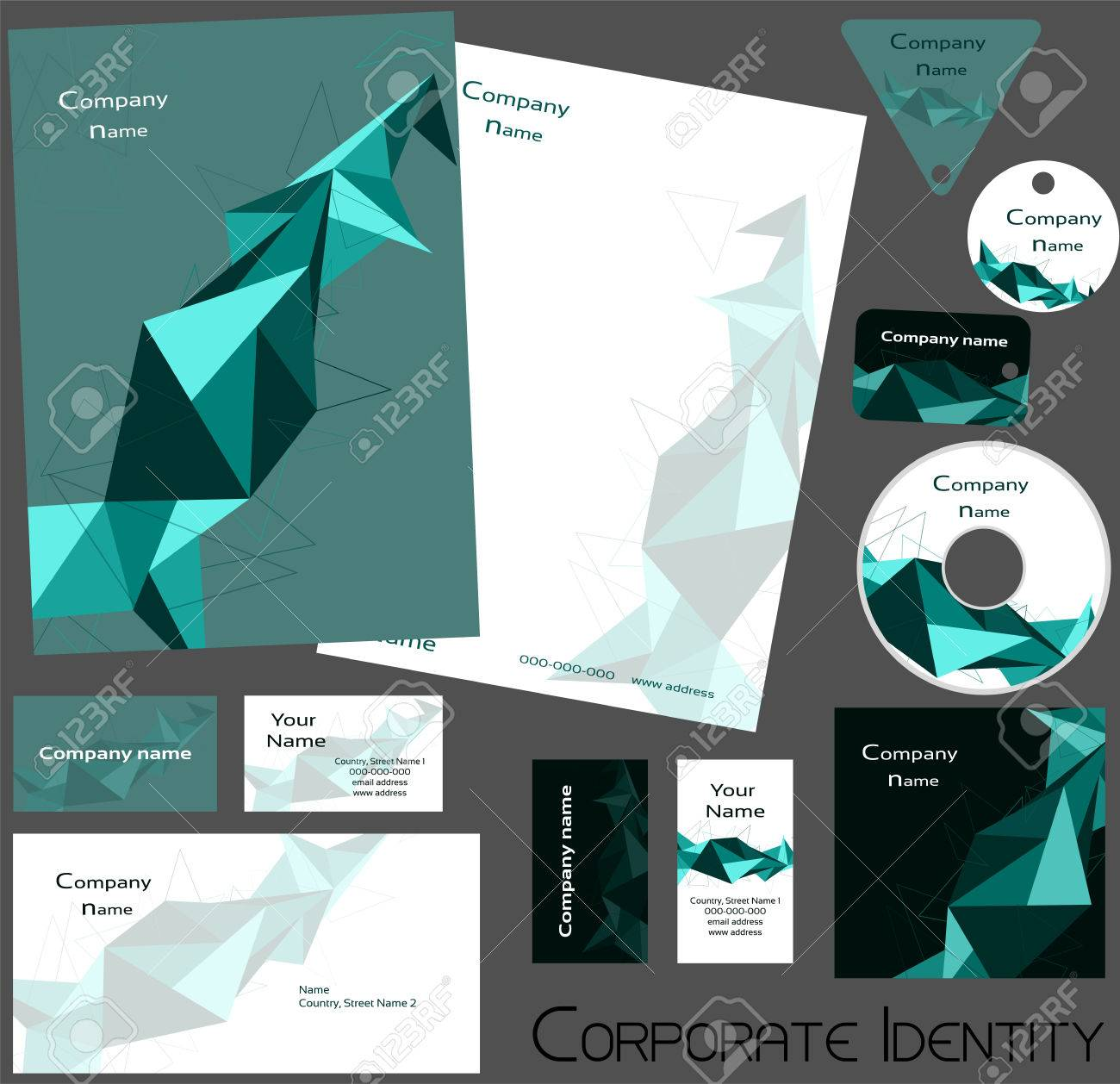 Corporate Identity Design-Vorlage Editierbare Satz Einschließlich ...