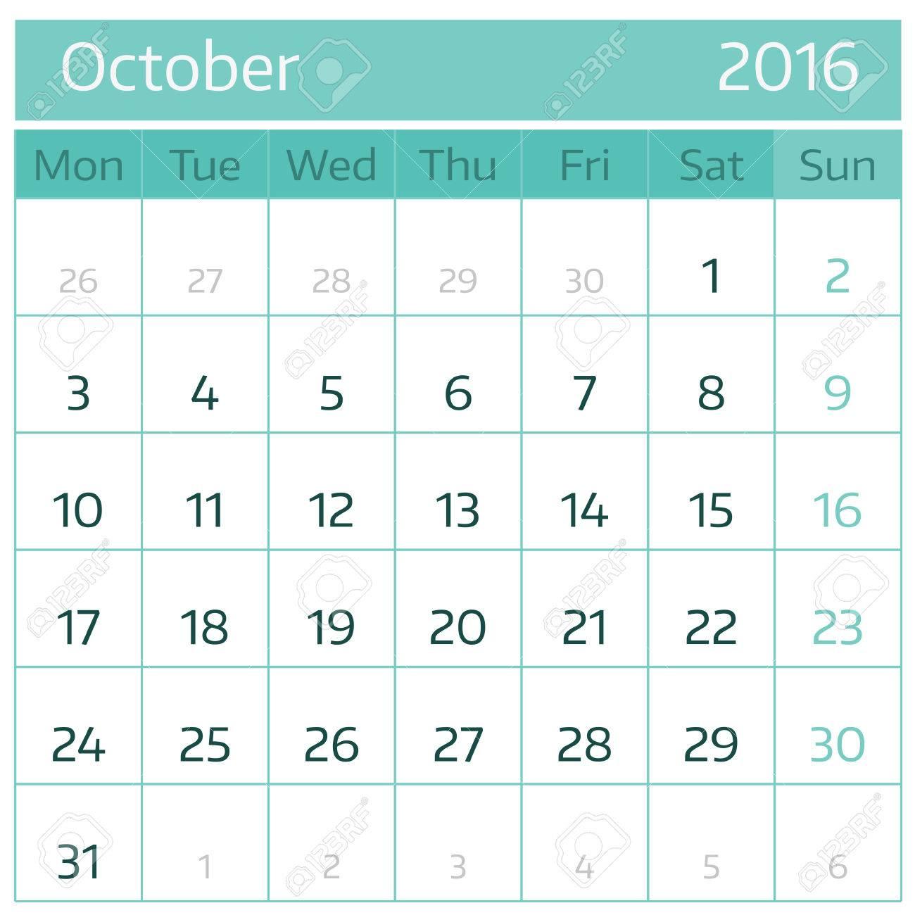 one month calendar