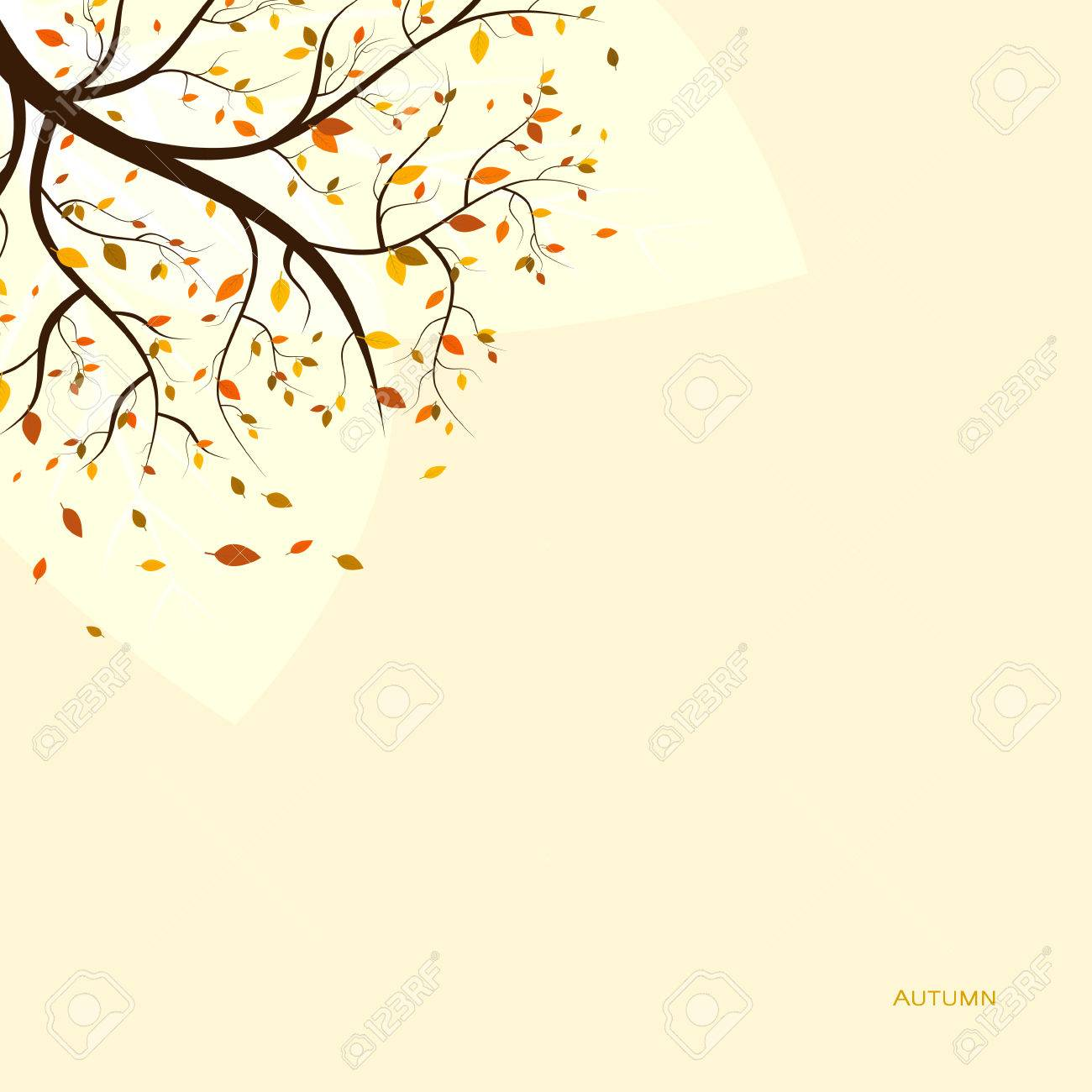 fall autumn background with colorful leaves on tree royalty free