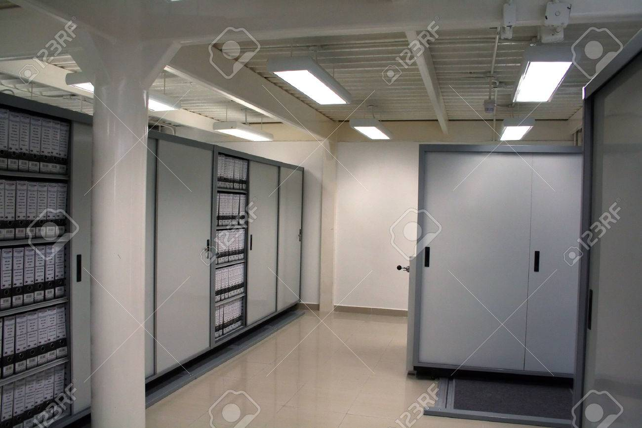 High security dedicated document storage with metal cabinets Stock Photo - 1567985