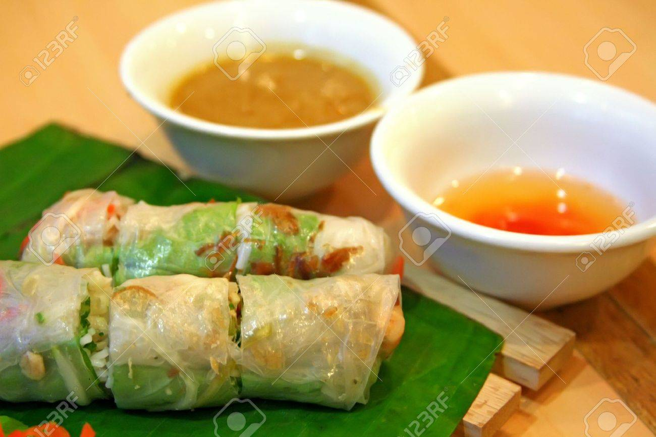 Traditional vietnamese spring rolls appetizer side dish Stock Photo - 1770877