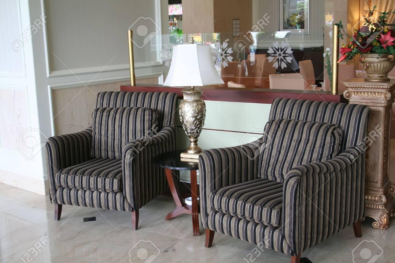 Elegant waiting area living room with sofas Stock Photo - 2274681