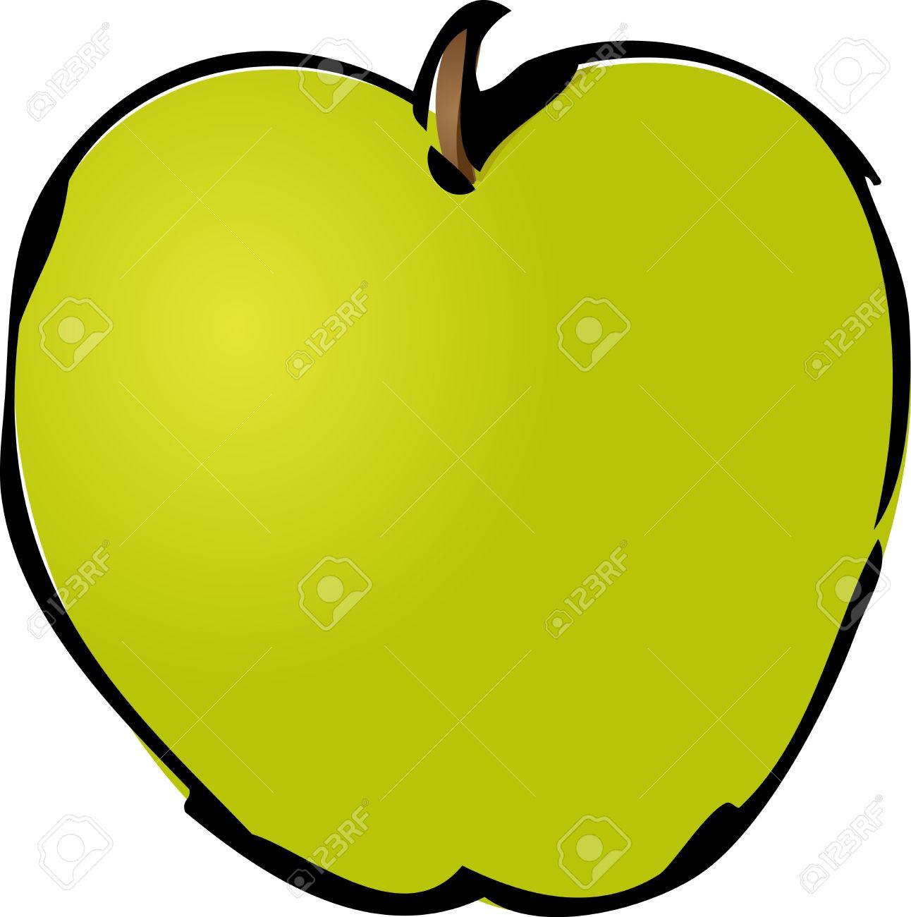 Todo El Verde Manzana Isométrica Ilustración Degradado De Color ...