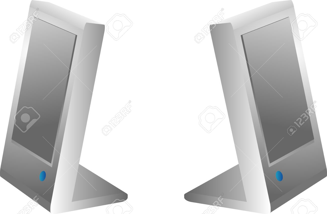 modern computer speakers. computer speakers compact modern models for audio sound stock vector - 3284711 o