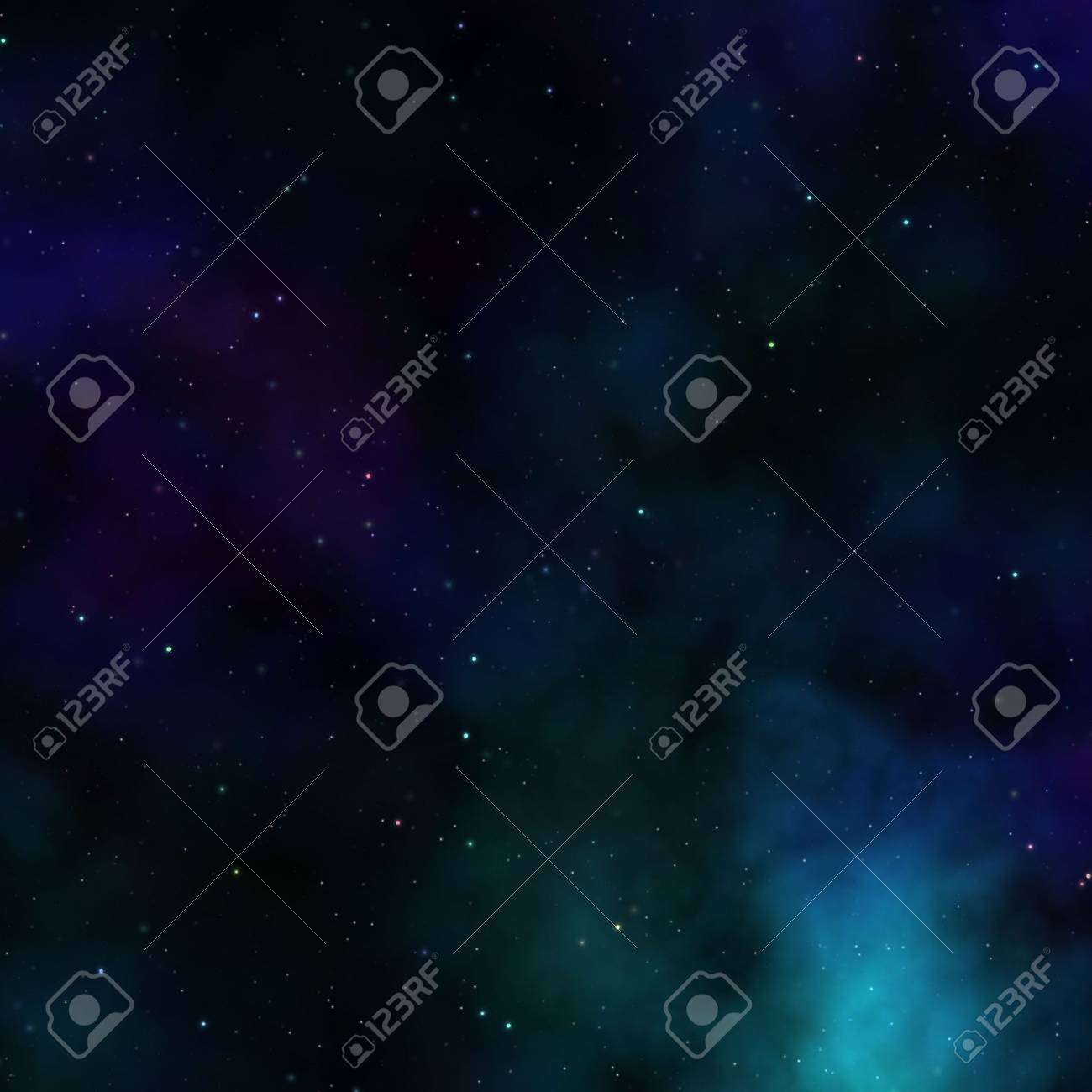 Space nebula starfield abstract illustration of outerspace starry sky Stock Illustration - 3313003