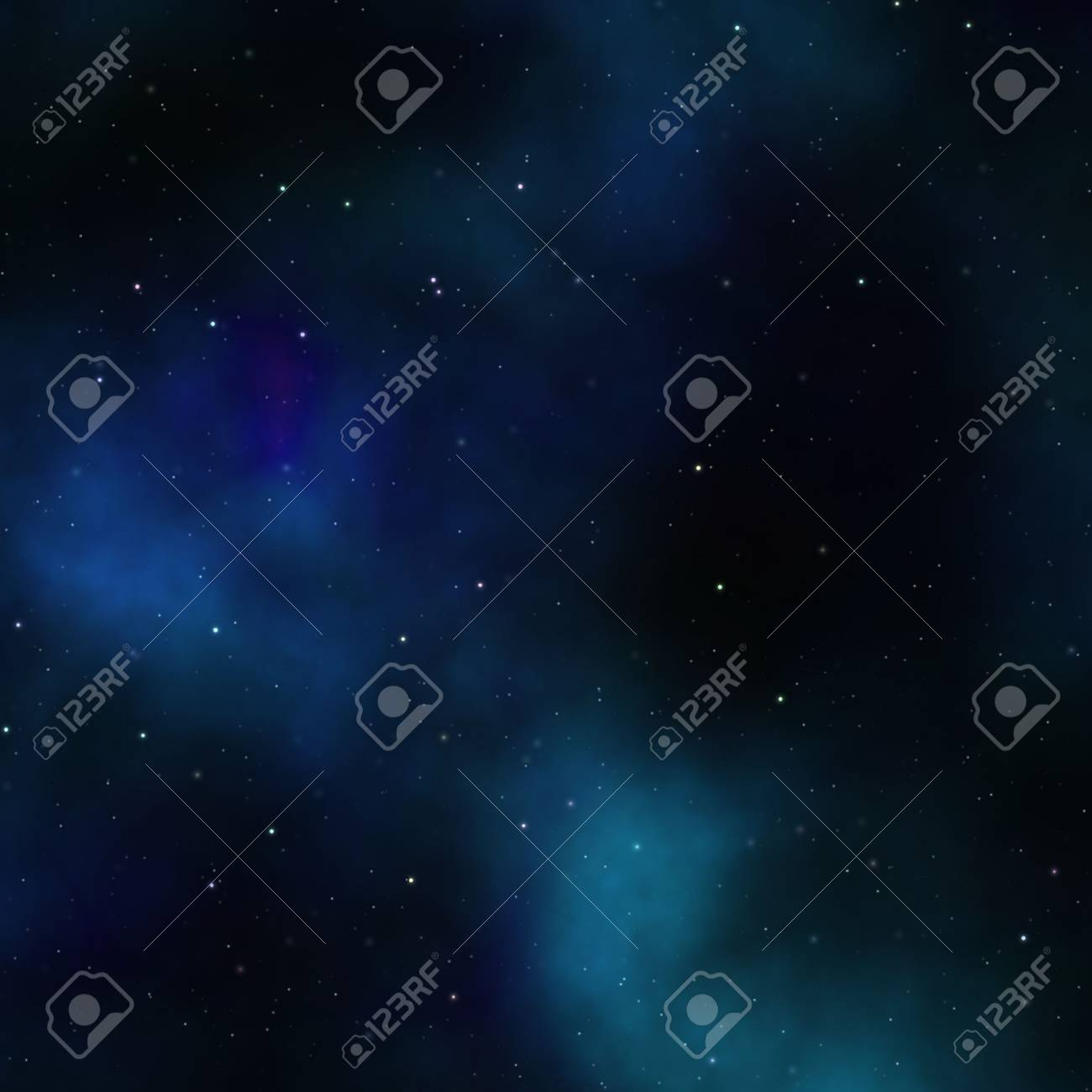 Space nebula starfield abstract illustration of outerspace starry sky Stock Illustration - 3364138