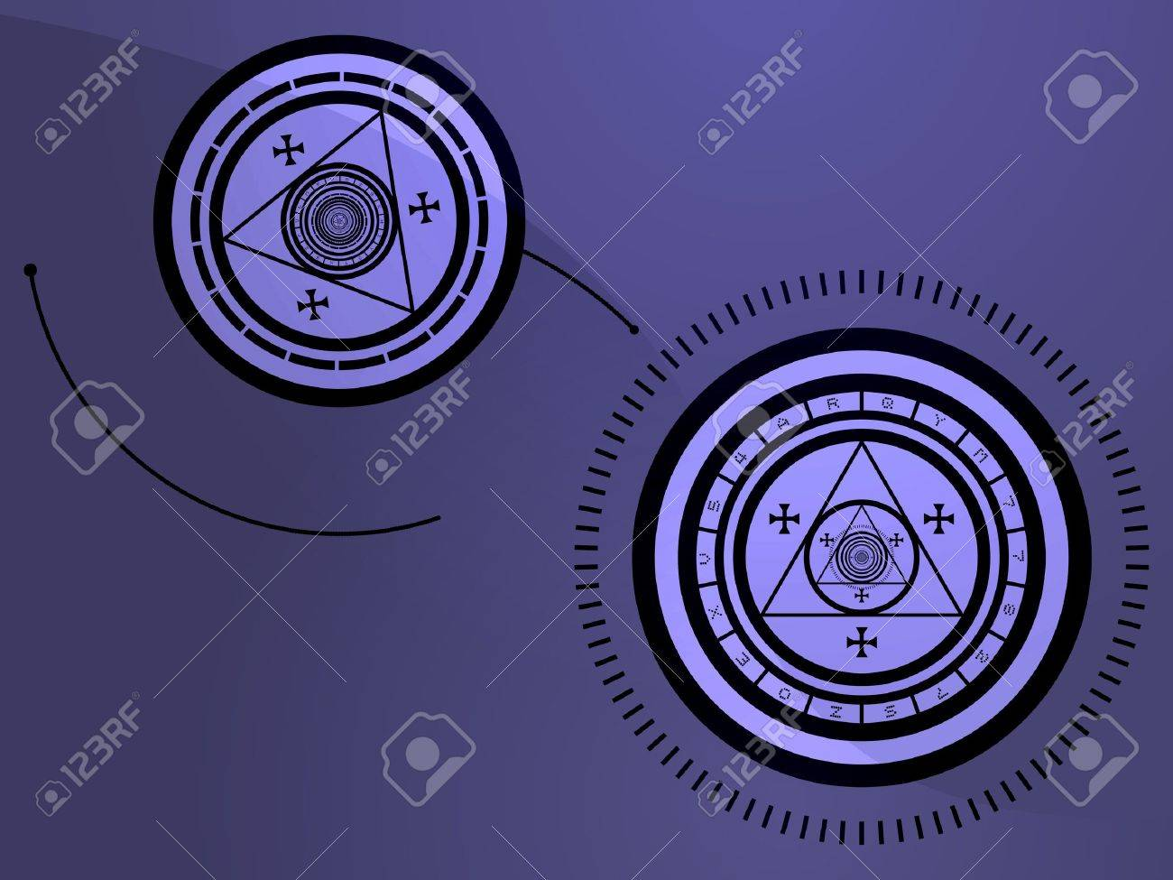 Wierd arcane symbols that look strange and occult Stock Photo - 3414140