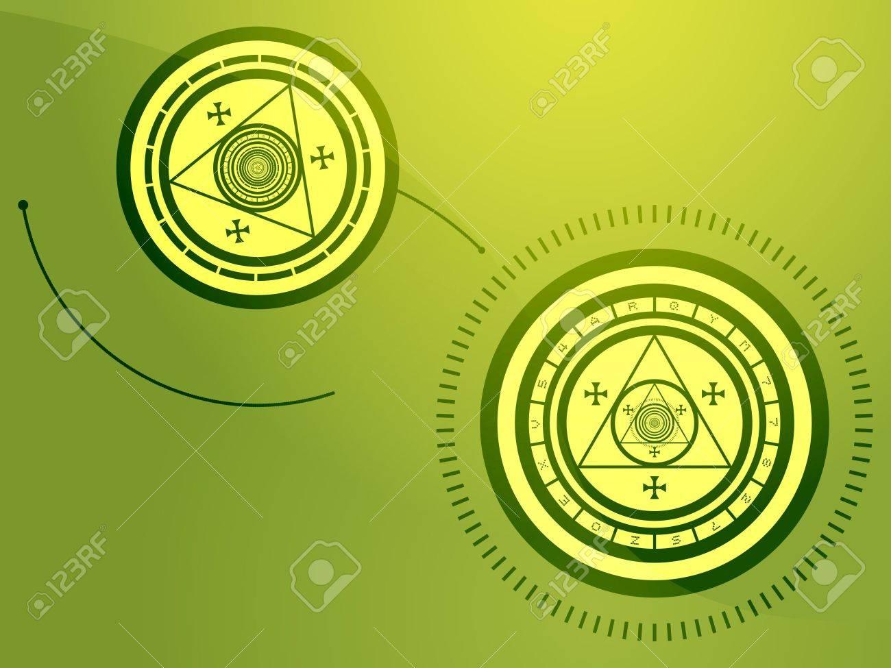 Wierd arcane symbols that look strange and occult Stock Photo - 3464453