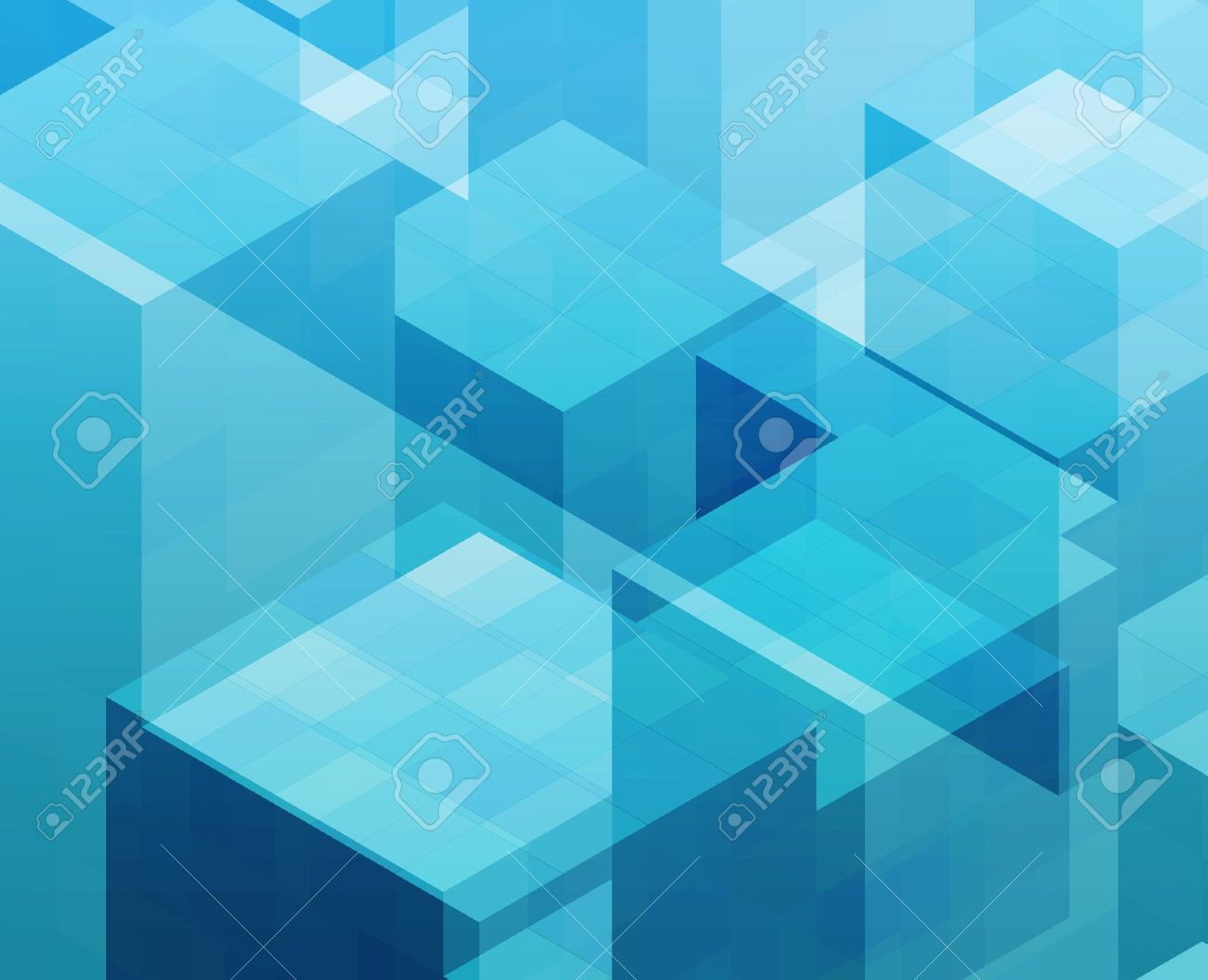 Abstract illustration wallpaper of geometric shape cubes Stock Photo - 3782763