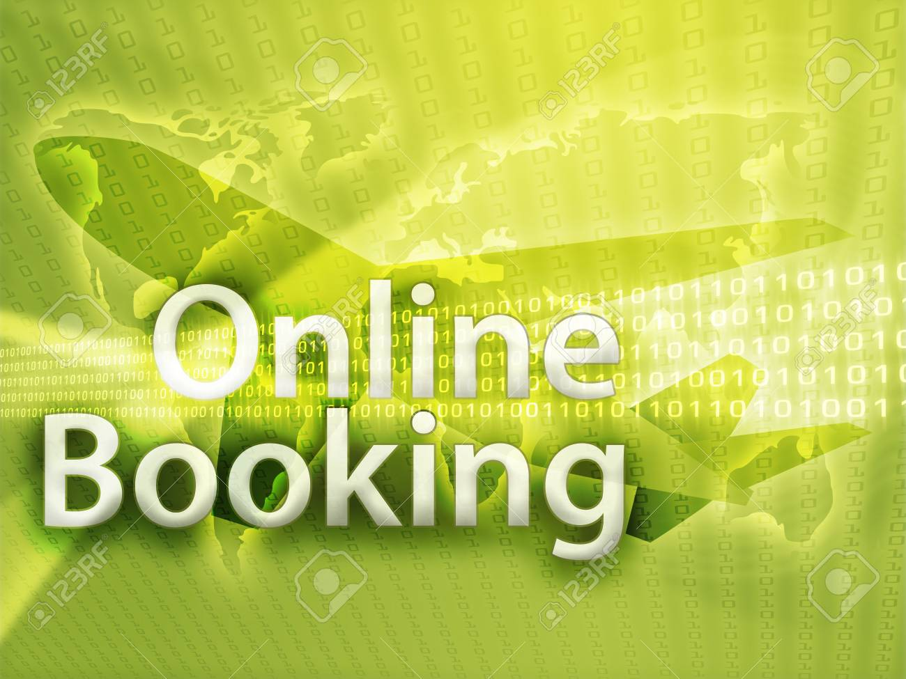 Online travel, illustration of electronic booking reservation Stock Photo - 3783304