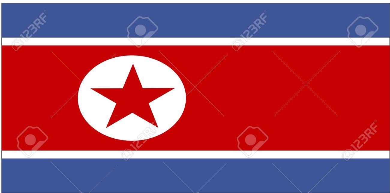 Flag Of North Korea National Country Symbol Illustration Stock